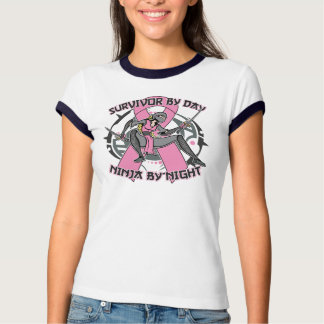 Breast Cancer Survivor By Day Ninja By Night T-shirts