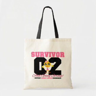 Breast Cancer Survivor Chick 02 Years Tote Bag