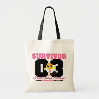 Breast Cancer Survivor Chick 03 Years Budget Tote Bag