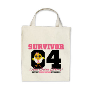 Breast Cancer Survivor Chick 04 Years Canvas Bags