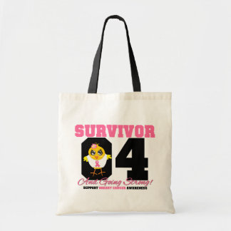 Breast Cancer Survivor Chick 04 Years Budget Tote Bag
