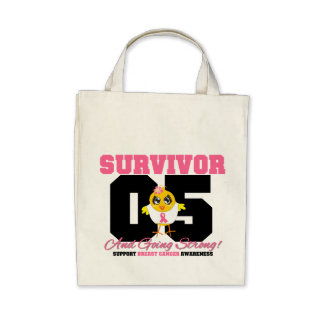 Breast Cancer Survivor Chick 05 Years Tote Bag