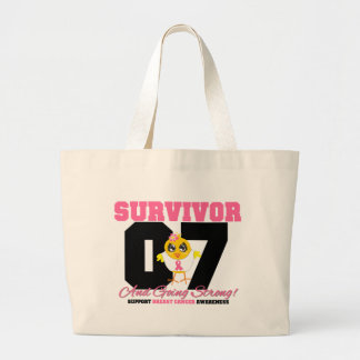 Breast Cancer Survivor Chick 07 Years Canvas Bags