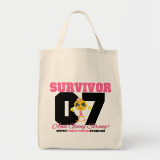 Breast Cancer Survivor Chick 07 Years Bags