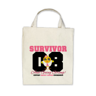 Breast Cancer Survivor Chick 08 Years Tote Bags