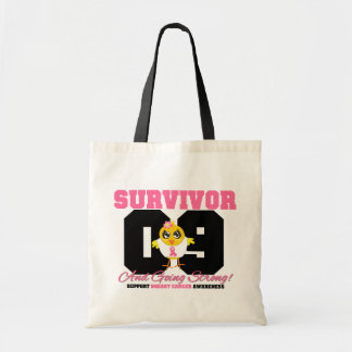 Breast Cancer Survivor Chick 09 Years Budget Tote Bag