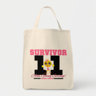 Breast Cancer Survivor Chick 11 Years Grocery Tote Bag