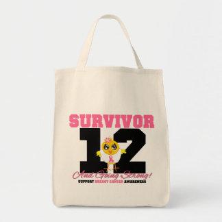 Breast Cancer Survivor Chick 12 Years Canvas Bag