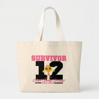 Breast Cancer Survivor Chick 12 Years Jumbo Tote Bag