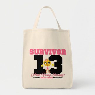Breast Cancer Survivor Chick 13 Years Tote Bag