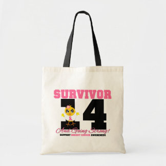 Breast Cancer Survivor Chick 14 Years Budget Tote Bag