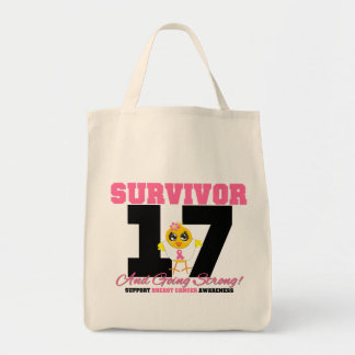Breast Cancer Survivor Chick 17 Years Tote Bag