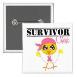 Breast Cancer Survivor Chick Badges