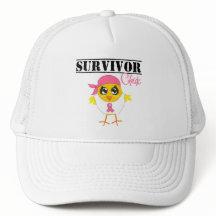 Breast Cancer  on Breast Cancer Survivor Chick Mesh Hats