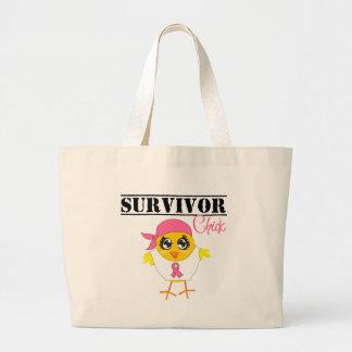 Breast Cancer Survivor Chick Jumbo Tote Bag