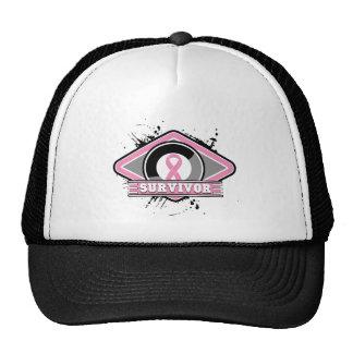 Breast Cancer Survivor Grunge Logo Trucker Hat