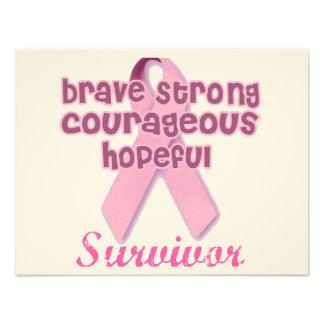 Breast Cancer Survivor Custom Invitations