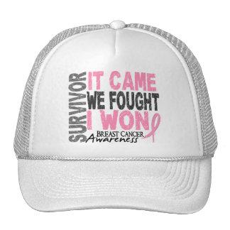 Breast Cancer Survivor It Came We Fought I Won Cap