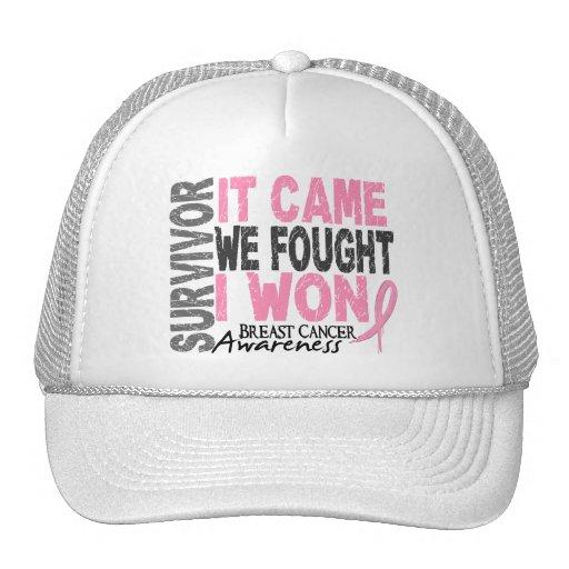 Breast Cancer Survivor It Came We Fought I Won Hat
