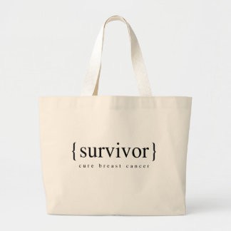 Breast Cancer Survivor Large Tote Bag