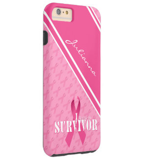 Breast Cancer Survivor | Pink Ribbon Custom Case Tough iPhone 6 Plus Case