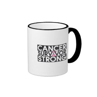 Breast Cancer Survivor Strong Coffee Mugs