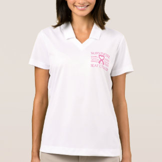Breast Cancer Survivors Fighting Together Polo T-shirt