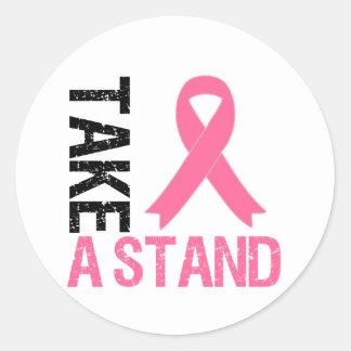 Breast Cancer Take A Stand Round Sticker