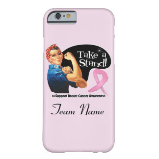 Breast Cancer Take a Stand Team Name iPhone 6 Case Barely There iPhone 6 Case
