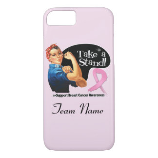 Breast Cancer Take a Stand Team Name iPhone 7 Case