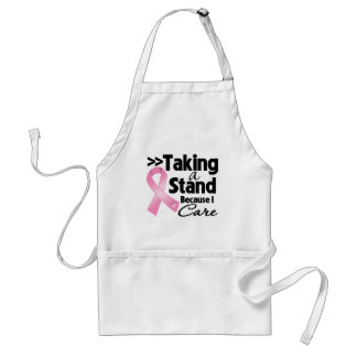 Breast Cancer Taking a Stand Because I Care Apron