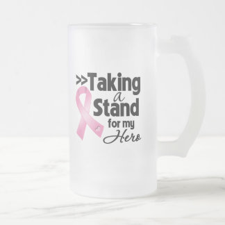 Breast Cancer Taking a Stand For My Hero Mugs