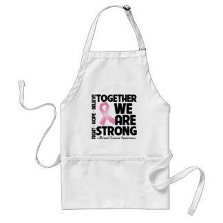 Breast Cancer Together We Are Strong Standard Apron