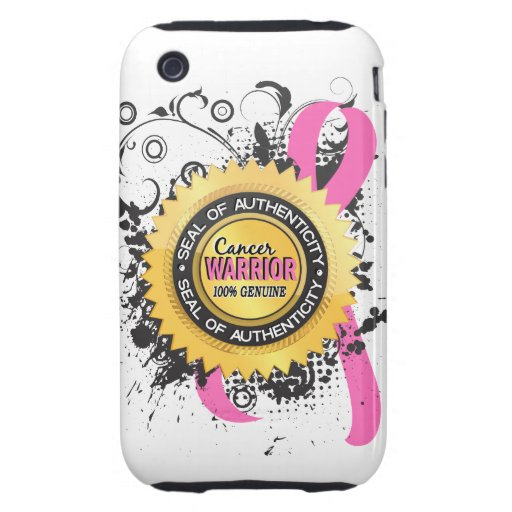 Breast Cancer Warrior 23 Tough iPhone 3 Cases