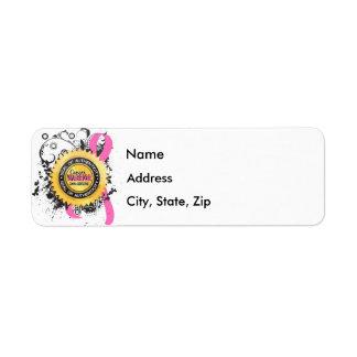 Breast Cancer Warrior 23 Return Address Label
