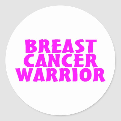 Breast Cancer Warrior Cancer Awareness Stickers