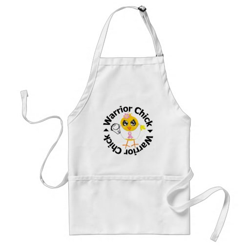 Breast Cancer Warrior Chick Aprons