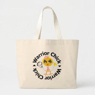 Breast Cancer Warrior Chick Jumbo Tote Bag