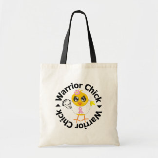 Breast Cancer Warrior Chick Budget Tote Bag