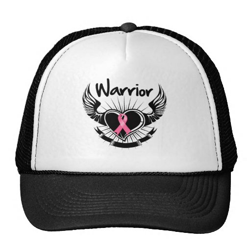 Breast Cancer Warrior Fighter Wings Mesh Hats