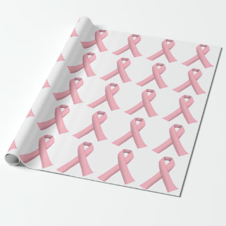 Breast Cancer Warrior Pink Wrapping Paper