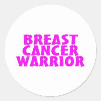 Breast Cancer Warrior Round Stickers