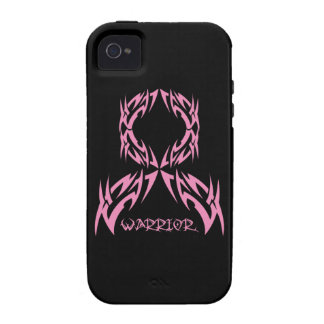 Breast Cancer Warrior Tribal Ribbon Case-Mate iPhone 4 Cover