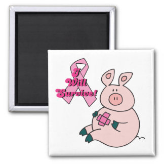 breast cancer will survive pig square magnet