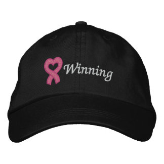 Breast Cancer Winning Embroidered Hat