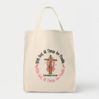 Breast Cancer WITH GOD CROSS 1 Tote Bag