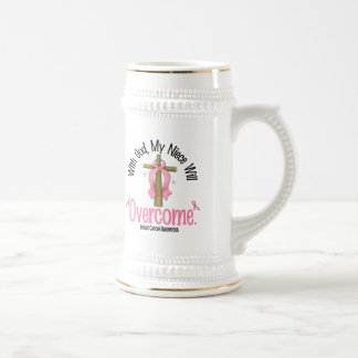 Breast Cancer With God My Niece Will Overcome Coffee Mug