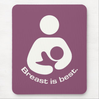 Breast Is Best Icon - Mauve Mouse Mat