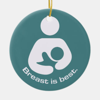 Breast Is Best - Teal Christmas Ornament