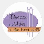 Breast Milk Is The Best Milk Round Sticker